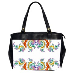 Fractal Kaleidoscope Of A Dragon Head Office Handbags (2 Sides)
