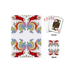 Fractal Kaleidoscope Of A Dragon Head Playing Cards (Mini)