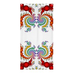 Fractal Kaleidoscope Of A Dragon Head Shower Curtain 36  X 72  (stall)