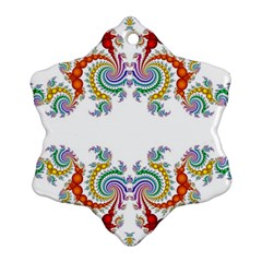 Fractal Kaleidoscope Of A Dragon Head Ornament (snowflake)