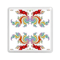 Fractal Kaleidoscope Of A Dragon Head Memory Card Reader (Square)