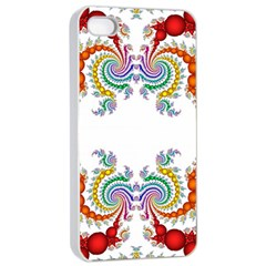 Fractal Kaleidoscope Of A Dragon Head Apple Iphone 4/4s Seamless Case (white)