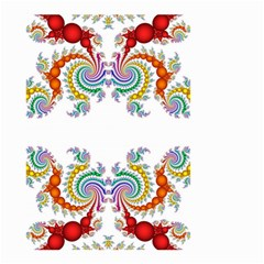 Fractal Kaleidoscope Of A Dragon Head Small Garden Flag (two Sides)
