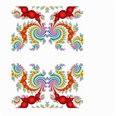 Fractal Kaleidoscope Of A Dragon Head Large Garden Flag (two Sides)