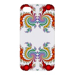 Fractal Kaleidoscope Of A Dragon Head Apple iPhone 4/4S Premium Hardshell Case