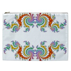 Fractal Kaleidoscope Of A Dragon Head Cosmetic Bag (XXL)