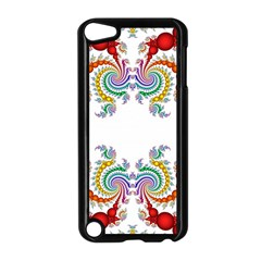 Fractal Kaleidoscope Of A Dragon Head Apple iPod Touch 5 Case (Black)