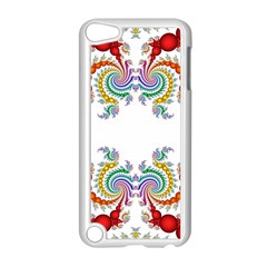 Fractal Kaleidoscope Of A Dragon Head Apple iPod Touch 5 Case (White)