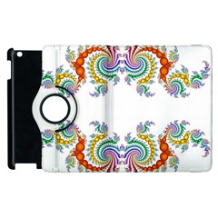 Fractal Kaleidoscope Of A Dragon Head Apple iPad 3/4 Flip 360 Case