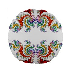 Fractal Kaleidoscope Of A Dragon Head Standard 15  Premium Round Cushions