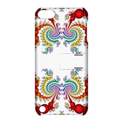 Fractal Kaleidoscope Of A Dragon Head Apple Ipod Touch 5 Hardshell Case With Stand