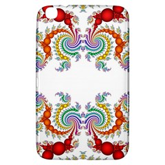 Fractal Kaleidoscope Of A Dragon Head Samsung Galaxy Tab 3 (8 ) T3100 Hardshell Case