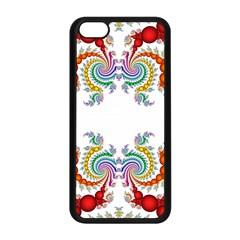 Fractal Kaleidoscope Of A Dragon Head Apple iPhone 5C Seamless Case (Black)
