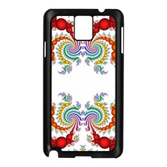 Fractal Kaleidoscope Of A Dragon Head Samsung Galaxy Note 3 N9005 Case (black)