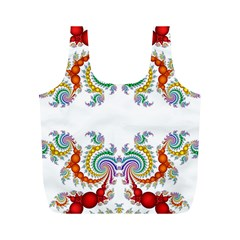 Fractal Kaleidoscope Of A Dragon Head Full Print Recycle Bags (m)