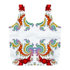 Fractal Kaleidoscope Of A Dragon Head Full Print Recycle Bags (l)