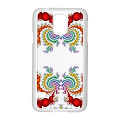 Fractal Kaleidoscope Of A Dragon Head Samsung Galaxy S5 Case (white)