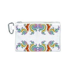 Fractal Kaleidoscope Of A Dragon Head Canvas Cosmetic Bag (s)