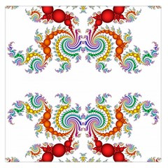 Fractal Kaleidoscope Of A Dragon Head Large Satin Scarf (Square)