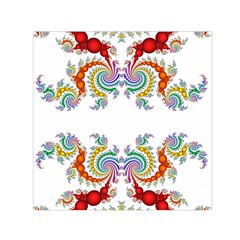 Fractal Kaleidoscope Of A Dragon Head Small Satin Scarf (square)