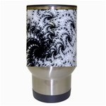 Fractal Black Spiral On White Travel Mugs (White) Center