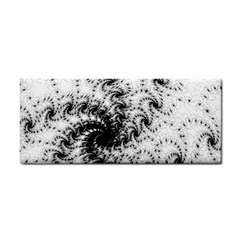 Fractal Black Spiral On White Cosmetic Storage Cases
