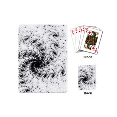 Fractal Black Spiral On White Playing Cards (mini)