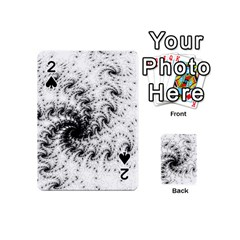 Fractal Black Spiral On White Playing Cards 54 (Mini)