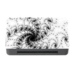 Fractal Black Spiral On White Memory Card Reader with CF