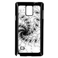 Fractal Black Spiral On White Samsung Galaxy Note 4 Case (Black)