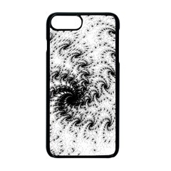 Fractal Black Spiral On White Apple Iphone 7 Plus Seamless Case (black)