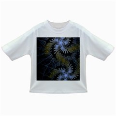 Fractal Wallpaper With Blue Flowers Infant/Toddler T-Shirts