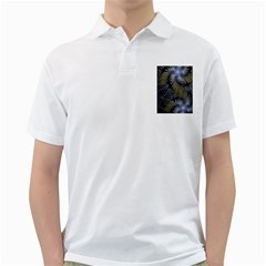 Fractal Wallpaper With Blue Flowers Golf Shirts