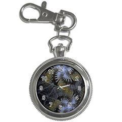 Fractal Wallpaper With Blue Flowers Key Chain Watches