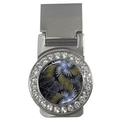 Fractal Wallpaper With Blue Flowers Money Clips (cz)
