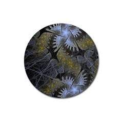Fractal Wallpaper With Blue Flowers Magnet 3  (Round)