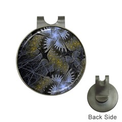 Fractal Wallpaper With Blue Flowers Hat Clips with Golf Markers