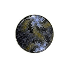 Fractal Wallpaper With Blue Flowers Hat Clip Ball Marker (4 pack)
