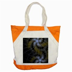 Fractal Wallpaper With Blue Flowers Accent Tote Bag