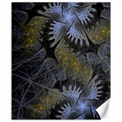 Fractal Wallpaper With Blue Flowers Canvas 8  X 10