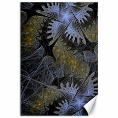 Fractal Wallpaper With Blue Flowers Canvas 12  X 18