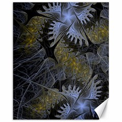 Fractal Wallpaper With Blue Flowers Canvas 16  X 20