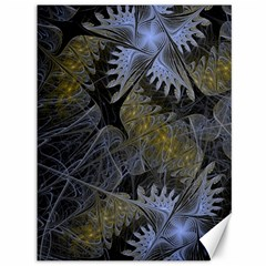 Fractal Wallpaper With Blue Flowers Canvas 36  X 48