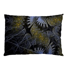 Fractal Wallpaper With Blue Flowers Pillow Case