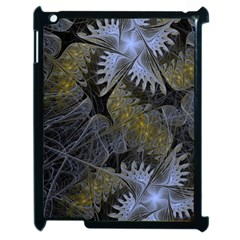 Fractal Wallpaper With Blue Flowers Apple Ipad 2 Case (black)