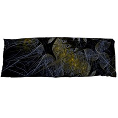 Fractal Wallpaper With Blue Flowers Body Pillow Case (dakimakura)
