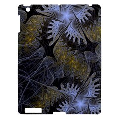 Fractal Wallpaper With Blue Flowers Apple Ipad 3/4 Hardshell Case