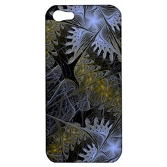 Fractal Wallpaper With Blue Flowers Apple iPhone 5 Hardshell Case