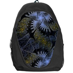 Fractal Wallpaper With Blue Flowers Backpack Bag