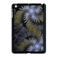 Fractal Wallpaper With Blue Flowers Apple iPad Mini Case (Black)